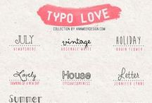 For the love of FONTS / Fonts & graphics