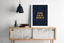 Inspirational Quote Prints / Beautiful bespoke inspirational & motivational quote prints. Available on TheHappinessPlanner.com.