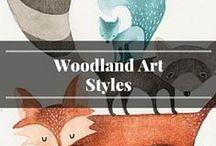 Woodland Art Styles / Inspiration for woodland art styles