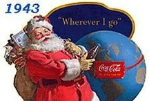 ~ Christmas & Coca-Cola ~ / Love the Memories through the years of Leaving a Coke for My Santa...story continued with my children leaving a Coke for their Santa. The Image of Santa for me is always, by the Artist Haddon Sundblom(1899~1976)  with a Coke. Continues I have a Christmas with Decorating with many of these....  May you have a Coca-Cola Christmas.