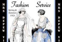 Fashion Service Magazines 1920's- 1930's.