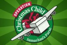 """~ Operation """"Christmas Child"""" Shoe Box Gifts ~ / Shoe boxes filled with Love. Your simple gift of Kindness will fill the Heart of a Child."""