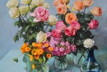 Roses paintings / Rose paintings of russian artists