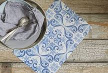 _encens / Add rustic charm to any setting with these photographic placemats capturing the aged beauty of vintage tiles.  Captured on camera, our Tile Placemats are a photographic snapshot of tiles from Lisbon.     Beautiful, Functional and Durable