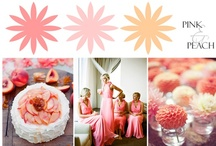 Pink & Peach Color Combo / Browsing through a sea of wedding inspiration on Pinterest, I've decided to create a little inspiration of my own from my board titled Pink & Peach Color Combo.