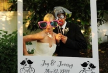 Photo Booths / Wedding Photo booths are all the rage! We love these ideas for customizing your photo booth Photo booths are great  for photos of your wedding party, plus have guests pose for photos too!