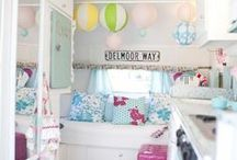 Trailer Decor Ideas / Vintage trailers, RV, trailer, camper, decorating your home on wheels