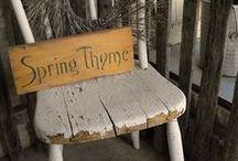 Spring / Decorating for spring, spring decor