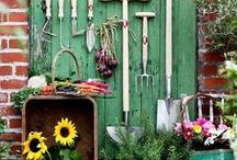 Garden Sheds and Potting Benches / Garden Sheds and potting benches / by Sunny Simple Life - Little Garden and coop in the big city