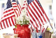 Patriotic decor, Red white and blue / Patriotic decor | red, white and blue / by Sunny Simple Life - Little Garden and coop in the big city