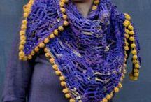 Crochet cowls, scarves & wraps