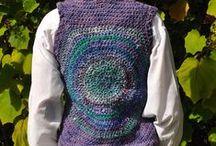 Crochet coats, jackets, vests & cardigans