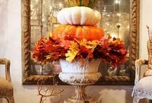 Autumn Home / Decorating in the warm colors of fall leaves and autumn goodness to create a welcoming cozy home. #autumn #fall
