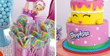 Shopkins Pary Ideas / We love Shopkins!  If you are getting ready to throw a party, here are some great ideas! And now we might even make it a slumber party and show the new Shopkins movie!  Shopkins Chef Club features the Shoppies characters alongside fan favorites: Kooky Cookie, Apple Blossom, Lippy Lips, and Cheeky Chocolate, is set to release today on October 25th! Have fun with this super cute theme!