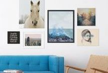 - WALL ART - / From triptychs to metal prints to wrapped canvas, we have all the art you need to upgrade your home decor. Check out more wall art here: http://zazl.it/9ggB