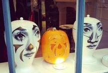 Retailing - VM Halloween / Retailing Visual Merchandising - Halloween, windows, window displays, mannequins, store