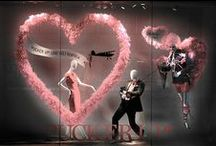 Retailing - VM Valentines Day / Retailing Visual Merchandising - Valentines Day, hearts, love St. Valentines, stores, windows, mannequins