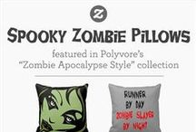 "* ZOMBIE APOCALYPSE PICKS * / Whether your home decor leans ""Zombie Apocalypse"" with Polyvore's Spooky Pillow Picks or you're simply prepping for Zombie Apocalypse, we've got you covered. / by Zazzle"