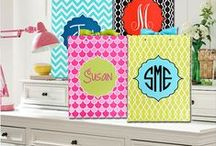 Preppy Monogrammed Blanks / Bright, fun, fresh & PREPPY!  Great gifts for college students and much more,