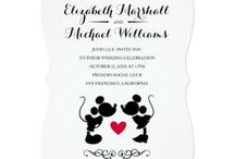 - DISNEY WEDDING COLLECTION - / Your Disney-themed wedding is within reach. Check out these design ideas from our Disney Wedding Collection and start planning your enchanted nuptials with help from Mickey, Minnie, Beauty & the Beast, and more of your favorite characters!