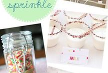 - BABY SPRINKLE IDEAS - / Don't stress yourself out with planning an extravagant baby shower. Keep it simple and throw a small baby sprinkle celebration! Choose your invitations, decorations, and desserts with these baby sprinkle party ideas.