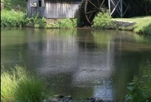 ~Country Barns, Grist Mills &  Covered Bridges~ / Let's take a nostalgic ride on the back roads of this beautiful country in  search of old country barns, mills & bridges...one of my favorite things to do...and oh, and don't forget your camera!