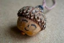 Acorn, Conker & Chestnut Crafts / art, crafts, games, and activities for kids with an acorn, conker or chestnut theme