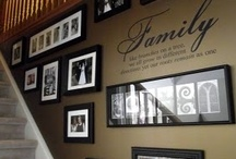 Photo Decorating / Display your photography like art. Use wall grouping, wall clusters on mounted boards, frames or canvas to decorate your home with photos you took yourself or from your professional photographer