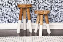 Home / white rustic, black graphic, grey wooden, yellow & turquoise fun