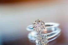 """Engagement Rings / """"The wedding ring goes on the left ring finger because it is the only finger with a vein that connects to the heart."""""""