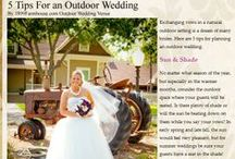 Outdoor Wedding Tips / Here are tips to make your outdoor wedding fabulous.
