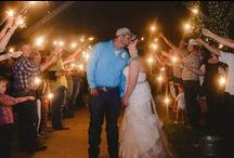Wedding Fireworks and Wedding Sparklers / This board features photos of wedding fireworks and wedding sparkler send-offs at weddings at 1899 Farmhouse outdoor wedding venue.