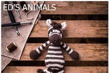 Ed's Animals / TOFT is home to best-selling crochet animal collection 'Edward's Menagerie', designed and written by Kerry Lord. Grab exclusive yarn deals, free patterns and TOFT Edward's Menagerie exclusives from across the range of crochet patterns of animals, birds and now dinosaurs!