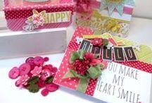 Cards /Tags & Petaloo flowers / Handmade cards made with Petaloo flowers!