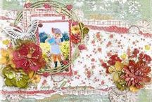 Layouts with Petaloo flowers / 12x12 and 8x8 scrapbooking layouts using Petaloo flowers and embellishments!