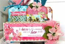Petaloo & Authentique / Authentique and Petaloo Inspired Projects using Authenique's paper collections and Petaloo's Flower & trims collections