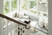 Reading Nooks / Gorgeous little spaces, window seats or anywhere cosy to sit very comfortably whilst reading ones book.