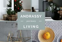 Andrassy Living / Images from the website, including our products; interiors inspiration; lifestyle shots from our suppliers plus pics from the blog.