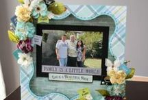 Petaloo & Quick Quotes / DIY Craft projects featuring Petaloo flowers and embellishments along with papers from Quick Quotes.