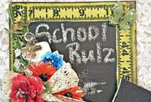 BACK TO SCHOOL / Back to School projects featuring paper from Core'dinations and flowers & embellishments from Petaloo!