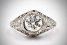Vintage Diamond Engagement Rings / SHOP a fabulous collection of antique engagement rings at alexandriarossoff.com