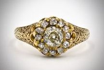 Floral Jewelry / We love historical antique jewels with floral motifs.