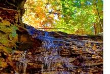 Honey Run Park and Waterfall in Knox County Ohio