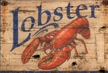 Lobster Themed Home Decor / All things lobster!  Lobster pillows, lobster linens, lobster pictures, lobster artwork, lobster rugs, lobster vintage signs, lobster tote bags, lobster trash cans and lobster ceramic bowls.