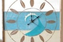 Handcrafted Coastal Wall Clocks / Hand crafted, hand painted. Made in the USA! / by Outer Banks Trading Group, Inc.