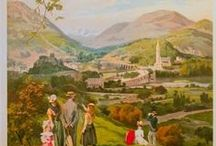 Affiches et films de Lourdes / Lourdes s'est aussi des affiches et des films. Posters and movies of Lourdes.