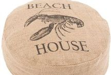 Beach House Poufs, Foot Stools / Casual poufs, ottomans, foot stools.  Great for the beach house! / by Outer Banks Trading Group, Inc.