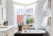 decorate   bathroom / from the ever-popular subway tile to gold fixtures, here's some bathroom decor inspiration.