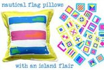 Kelly Tracht Indoor Outdoor Pillows / Beautiful Coastal / Tropical Pillows by Artist, Kelly Tracht FREE SHIPPING!