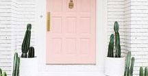 Front Door Ideas / From bright front door colors to cool wood paneling, here are the best front door ideas to transform your home.